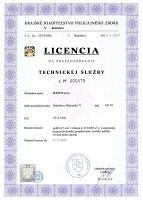 Licencia technickej služby